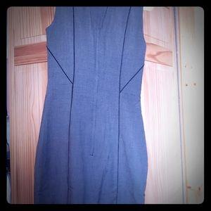 Grey dress with black pin line